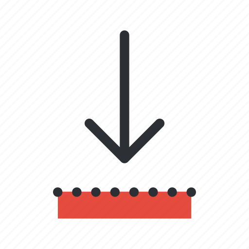 arrow, decrease, direction, down, download, save, update icon