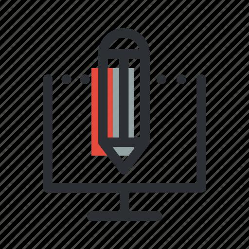 computer, creative, design, draw, edit, pen, pencil icon