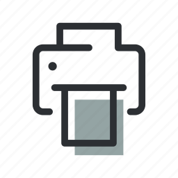 device, document, paper, print, printer, scanner, technology icon