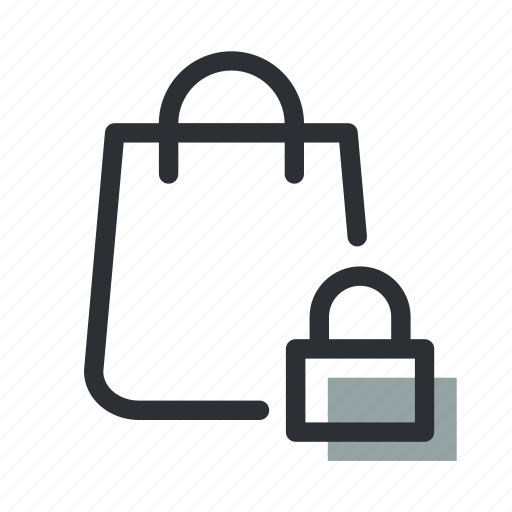 bag, ecommerce, lock, safe, sale, secure, shopping icon