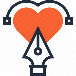 art, design, draw, graphic, heart, illustration, love icon