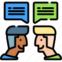 business, chatting, concept, idea, team, work icon