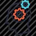 head, process, mind, idea, solution, thinking, brainstorming