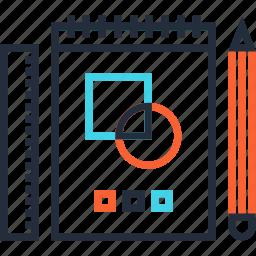 art, concept, design, development, drawing, graphic, sketch icon