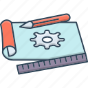 concept, object, prototyping, reports, test icon