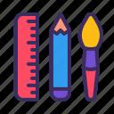 tool, pen, brush, ruler