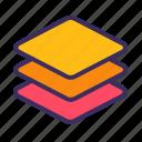layer, arrange, compose, stack