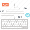 coding, computer, device, input, keyboard, program, programming icon