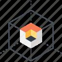 box, development, cube, design, digital, modeling, 3d icon