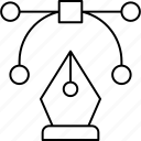 bezier, curve, illustration icon