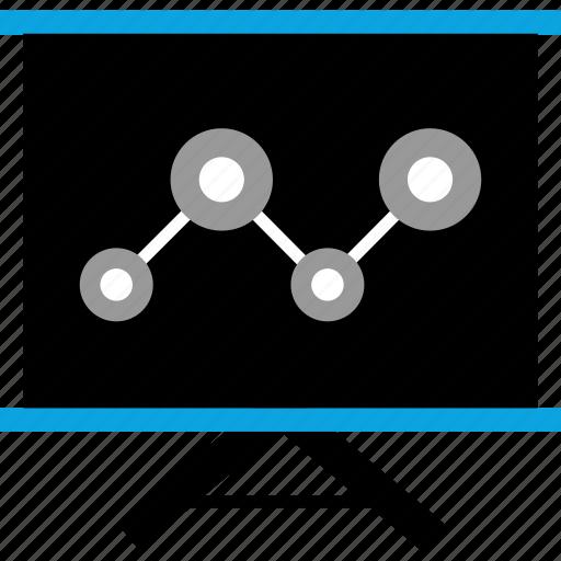 analytics, board, web icon