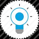 brilliant, bulb, light icon