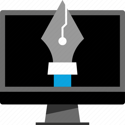 pc, pen, tool icon