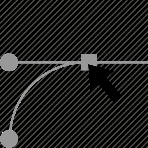 curve, edit, pen, tool icon