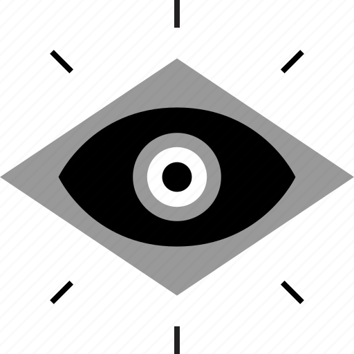 eye, illuminati, view, watch icon