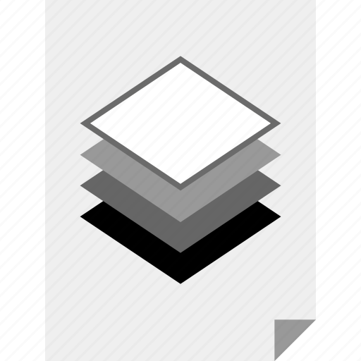 document, layers, page, photoshop icon