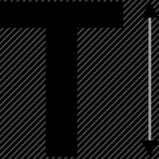 extend, letter, measure icon