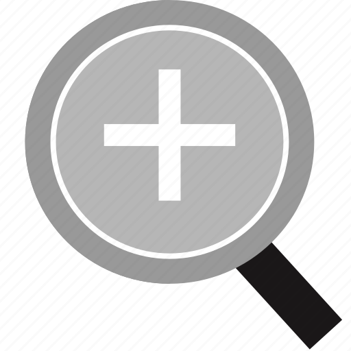 cross, in, plus, zoom icon