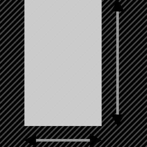 arrows, measure, rectangle icon