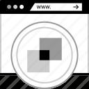 colors, online, web, www icon