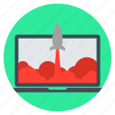 business, computer, finance, launch, marketing, rocket, space shuttle icon