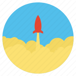 business, launch, marketing, rocket, send, space shuttle icon