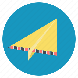 contact, email, launch, origami, paper plane, send icon