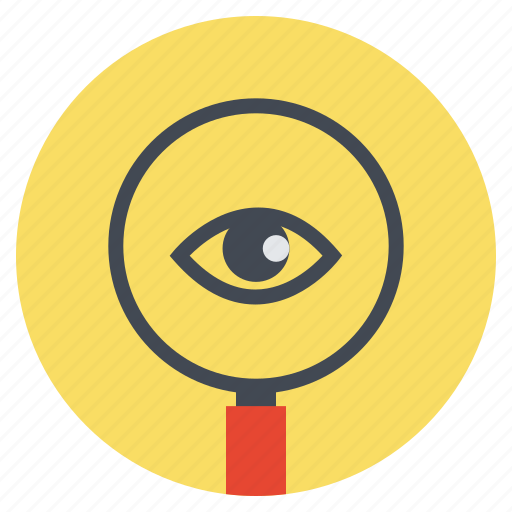 eye, magnifier, magnify, magnifying, search, view, zoom icon