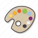 art, colors, design, palette icon