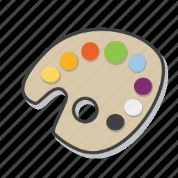 art, colors, design, palette icon