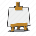 easel, art, painting icon