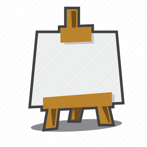 art, easel, painting icon