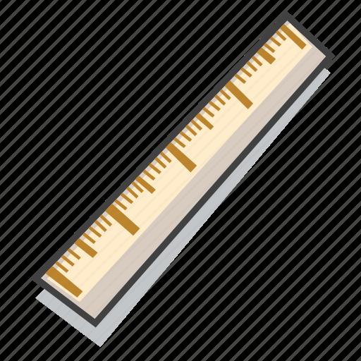 measure, ruler, school supplies icon