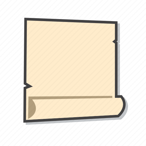 file, parchment paper, school supplies icon