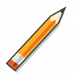 office supplies, pencil, school supplies icon