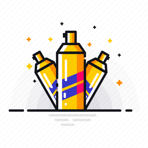 color, coloring, fill, job, paint, spray, tool icon