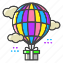 balloon, air balloon, sky, gift, delivery, shipping, logistics