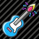 creativity, guitar, match, rock, fire, music, guitarist icon