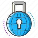 lock, protection, password, safe, padlock, internet, web