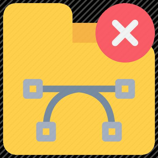 Folder, document, extension, file, remove icon