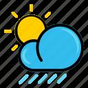 autumn, cloud, fall, rain, sun