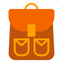 autumn, bagpack, fall, holiday, school icon