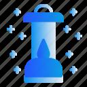 camping, candle, lamp, lantern icon