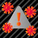 covid, danger, risk, zone icon