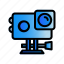 action, camera, gadget icon