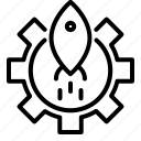 gear, rocket, setting, trafic icon