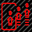 advertising, digital, marketing, phone, trafic icon