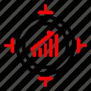advertising, promotion, target, trafic icon