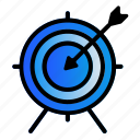 business, goal, office, target icon
