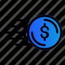 cash, dollar, fast, money icon